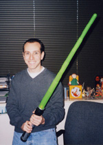 Mike with Lightsaber